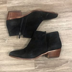 Sam Edelman Suede Leather Black booties. Size 7.5